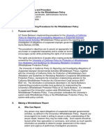 Whistleblower Procedures