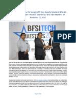 Pavankumar Bolisetty_Winner of BFSI Tech Maestro Award