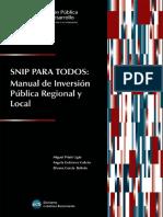 SNIP PARA TODOS Manual de Inversión Pública Regional y Local.pdf