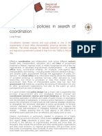 E-government Policies in Search of Coordination