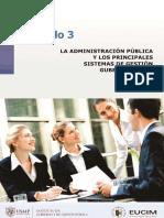 3 La Administración Pública y Los Principales Sistemas