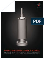 OPERATION & MAINTENANCE MANUAL MODEL APH HYDRAULIC ACTUATOR