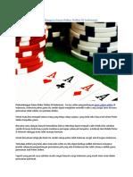 Perkembangan Game Poker Online Di Indonesia