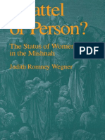 Judith Romney Wegner, Chattel or Person the Status of Women in the Mishnah