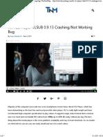 Fix VLC Player VLSUB 0.9.13 Crashing_Not Working Bug