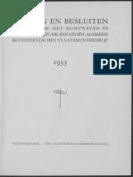 Wetten en besluiten betreffende het muntwezen in Nederland en de koloniën alsmede betreffende het staatsmuntbedrijf