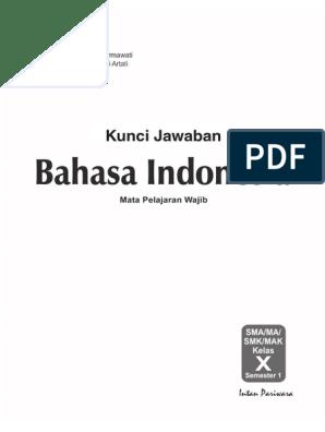 Kunci Pr Bahasa Indonesia 10a K 13