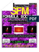 16 CA Final Sfm Mafa Formula Booklet by Aaditya Jain All Formula in One Pla