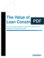 The Value of Lean Construction, SmartPlant