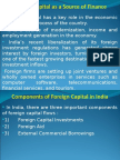 Foreign Capital as a Source of Finanace