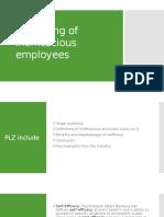 Mentoring of Inefficacious Employees
