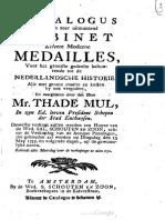 Catalogus van een zeer uitmuntend cabinet zilvere moderne medailles, voor het grootste gedeelte behoorende tot de Nederlandsche historie