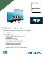 Manual Philips LED tv 40HFL5010T/12 | Web Server | Usb Flash Drive