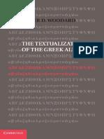 Roger D. Woodard-The Textualization of the Greek Alphabet-Cambridge University Press (2014)