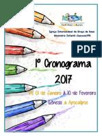 Cronograma Janeiro