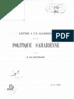 P Lettre à Un Algérien Sur Le Chatelier