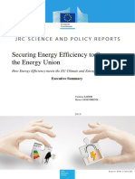 2015-12-09 Securing Energy Effciency to Secure the Energy Union Executive Summary