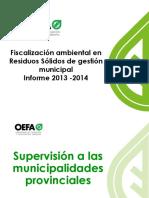 Fiscalizacion Ambiental en Residuos Solidos de Gestion Municipal