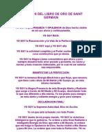 Decretos Del Libro de Oro de Saint Germain