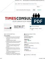 Sales Manager - FMCG Industry - (MM 112) Job - Timesconsult - 3125257 _ JobStreet