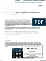 Top 20 Free Digital Forensic Investigation Tools for SysAdmins