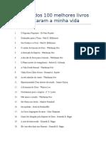 Relação dos 100 melhores livros que marcaram a minha vida (01)