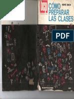 Como Preparar Las Clases - Heinz Bach