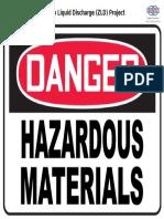 Danger - Hazardous Materials