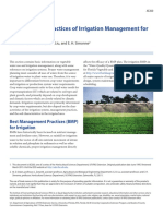 Principles and Practices of Irrigation Management For