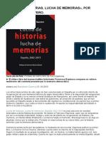 «Lucha de Historias, Lucha de Memorias», Por Bartolomé Clavero