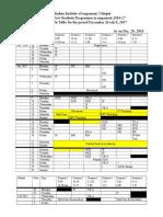 Timetable Sixth Term