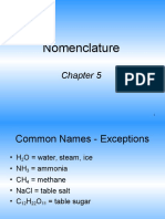 Chapter 5 Nomenclature