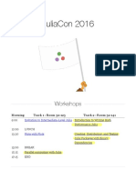 WORKSHOPS JuliaCon 2016 - Notes
