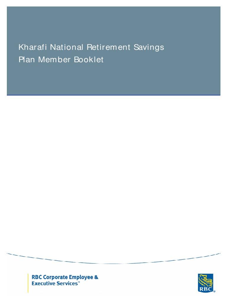 Kharafi National Retirement Manual | Vesting | Payroll