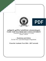 Regulations & Syllabus 2016-2017