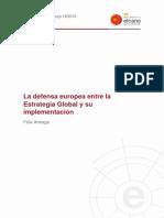 La Defensa Europea Entre La Estrategia Global y Su Implementacion