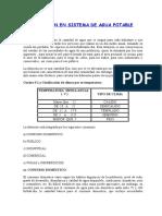 Dotación en Sistema de Agua Potable (1)