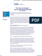 The Body as Hologram_ Interview With Ralph Alan Dale, By Connie Hargrave; Health and Healing Section; Share International Archives