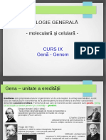 Curs 9 Gena Genom