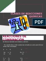 Clases de Reacciones Químicas