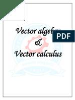 Vector Algebra Vector Calculus