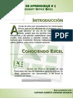 Guía de Aprendizaje Excel - PRIMEROS PASOS