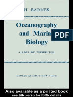 Oceanography and Marine Biology - A BOOK of TECHNIQUES