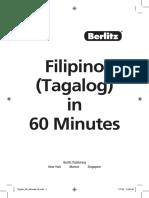 Filipino (Tagalog) in 60 Minutes