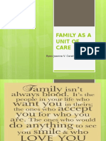 Family as a Unit of Care