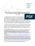 CBPP Medicaid Block Grants