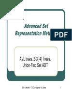 L04 AdvancedSetRepresentationMethodsAVLtrees2 3(4)TreesUnion FindADT