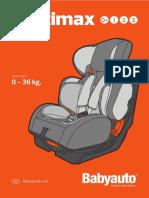 Instrucciones Silla infantil multimax