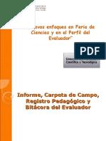 Informe, Carpeta de Campo, Registro Pedagogico, Bitacora Del Evaluador-Edda Gauna - Copia