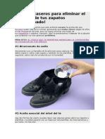 4 Trucos Caseros Para Eliminar El Mal Olor de Tus Zapatos